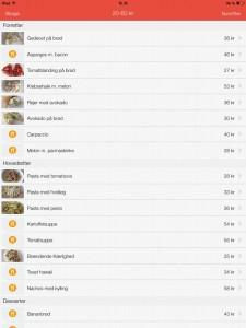 App - mad på budget